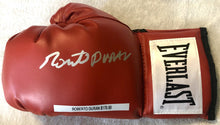 Roberto Duran Autographed Silver Signed Red Everlast Boxing Glove