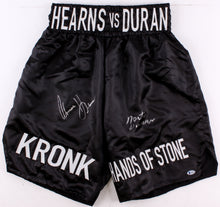 Roberto Duran & Tommy Hearns Signed Boxing Trunks (Beckett COA)