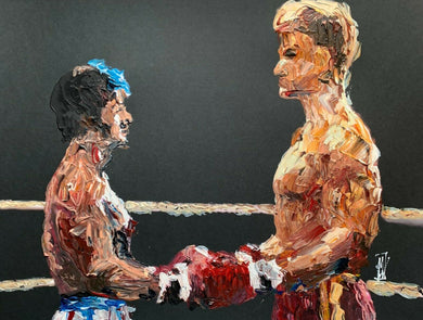 Rocky 4 IV Vs Ivan Drago Abstract Pop Art Original Painting Cold War Stallone
