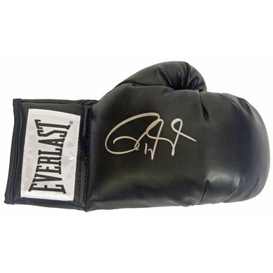 Roy Jones Jr. Everlast signed Autographed Red Boxing Glove Certified Photo proof.