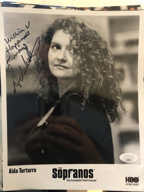 SOPRANOS Aida Turturro as Janice autographed 8x10 color photo JSA Certified