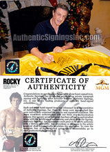 Sylvester Stallone Autographed ROCKY III Italian Stallion Boxing Robe ASI Certified