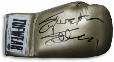 Sylvester Stallone Hand Signed Autographed Gold Tuf-Wear Boxing Glove OA COA