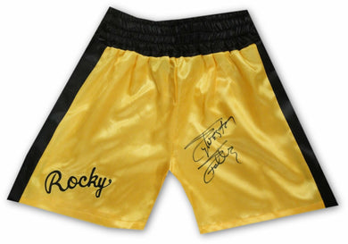 Sylvester Stallone Hand Signed Autographed Yellow Boxing Shorts Rocky OA