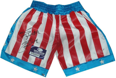 Sylvester Stallone Signed Autographed USA Boxing Shorts Trunks Rocky OA