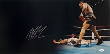 Mike Tyson Signed 12x24 Panoramic Knock Out Photo JSA ITP