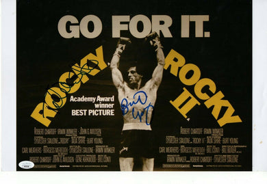 Talia Shire Burt Young Signed Autographed 11X17 Photo Rocky II JSA HH37638