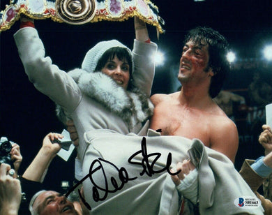 Talia Shire Signed Autographed 8x10 Photo ROCKY Actress Beckett BAS COA