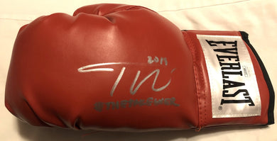 Teofimo Lopez autographed Silver signed everlast Rare boxing glove certified