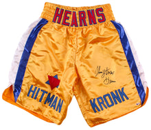 "Tommy ""Hitman"" Hearns Signed Boxing Trunks (Beckett COA)"