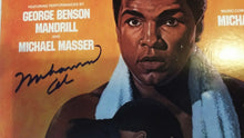 Muhammad Ali Autographed Rare Record Album Cover hand signed in blue ink with photo proof