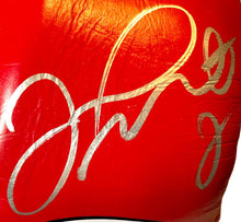Floyd Mayweather Jr. Signed Red Reyes Boxing Glove used for sparing, official boxing glove.