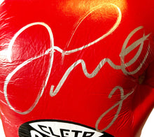 Floyd Mayweather Jr. Signed Red Reyes Boxing Glove used for sparing,