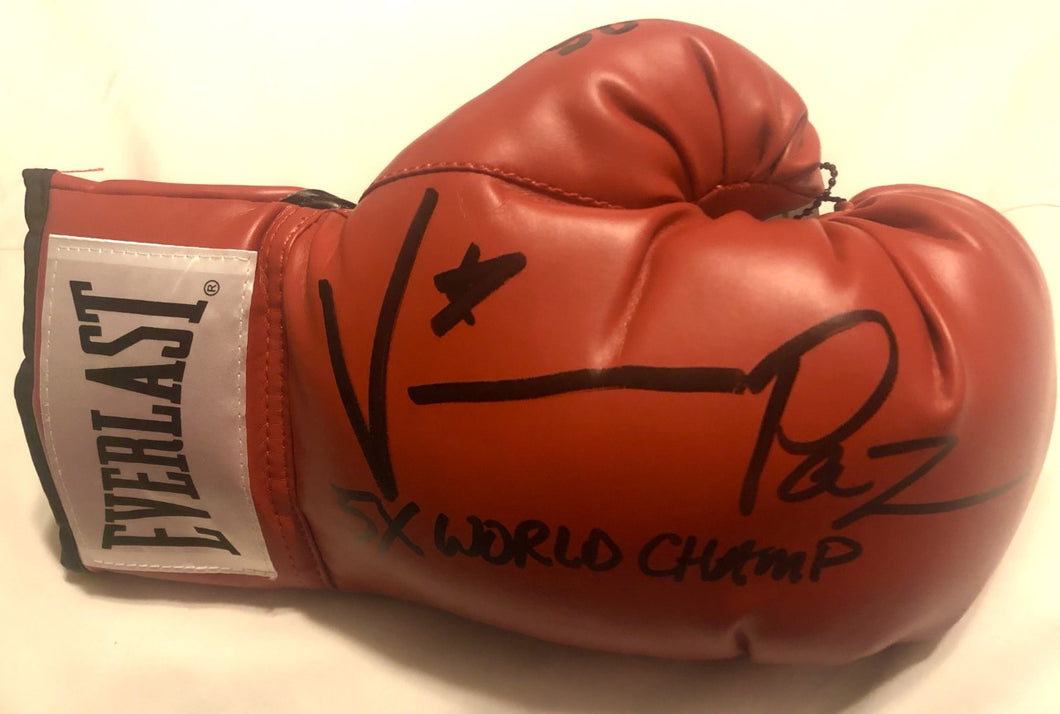 Vinny Paz Pazienza Signed Autographed Boxing Glove 5X World Champ 2020