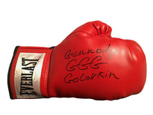 Boxer Gennady Golovkin Autographed Everlast Gold Boxing Glove in Black Signature