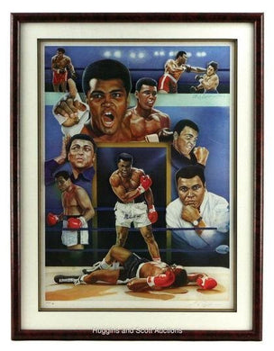 Muhammad Ali Limited Edition Autographed Framed and Matted 3D Photo, PSA/DNA Certified