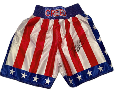 Carl Weathers Signed Custom Boxing Trunks Inscribed