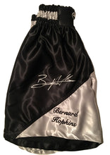 Bernard Hopkins Silver Autographed Custom Made black/silver Boxing Trunks