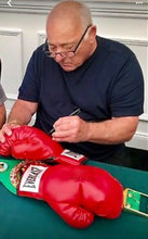 "Burt Young Autographed TUFFWEAR Black Boxing Glove Inscribed ""Paulie""."