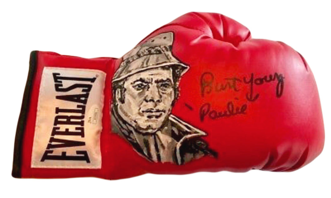 Burt Young Hand Painted and Autographed Everlast Boxing Glove Inscribed