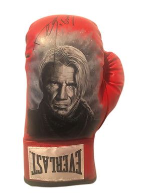 Dolph Lundgren Hand Painted and Autographed Everlast Boxing Glove Inscribed