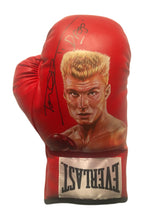 "Dolph Lundgren Hand Painted and Autographed Everlast Boxing Glove Inscribed ""Drago"""
