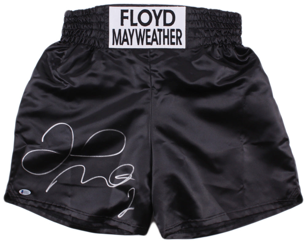 Floyd Mayweather Jr. Signed Custom Boxing Trunks (Beckett COA)
