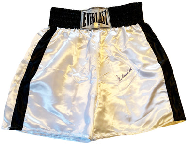 Muhammad Ali Autographed Everlast Blue signature Boxing Rare Trunks