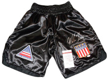 Autographed Mike Tyson Custom Made Boxing Trunks JSA Certified
