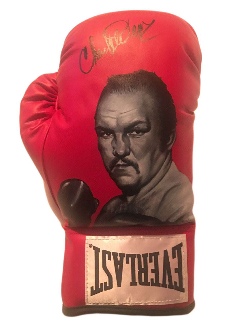 Chuck Wepner Autographed and Custom Hand Painted Everlast Boxing Glove