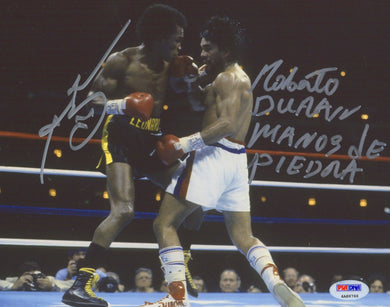 Sugar Ray Leonard & Roberto Duran Signed 8x10 Photo Inscribed