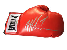 Mike Tyson Silver Autographed Red Everlast Boxing Glove Steiner Certified with Photo proof.