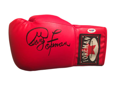 Autographed George Foreman Custom Boxing glove with PSA/DNA Certification