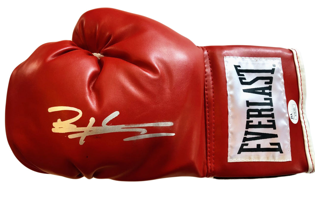 Bernard Executioner Hopkins Hand Signed Everlast Red Boxing Glove JSA