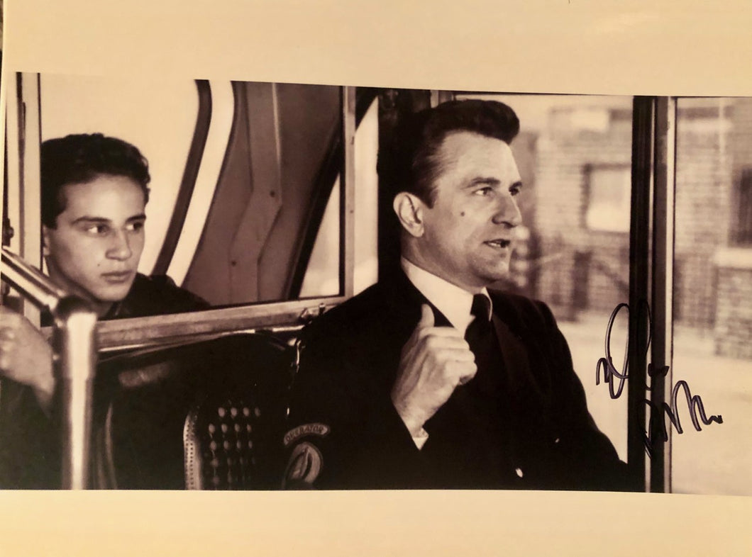 Lillo Brancato A Bronx Tale Signed 8x10 Bus photo with Robert De Niro