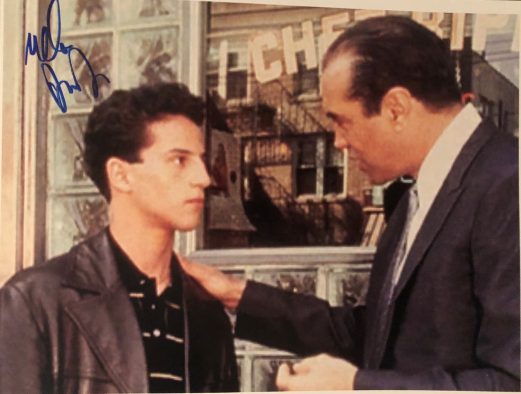 Lillo Brancato A Bronx Tale Autographed 8x10 street photo with Chazz Palminteri