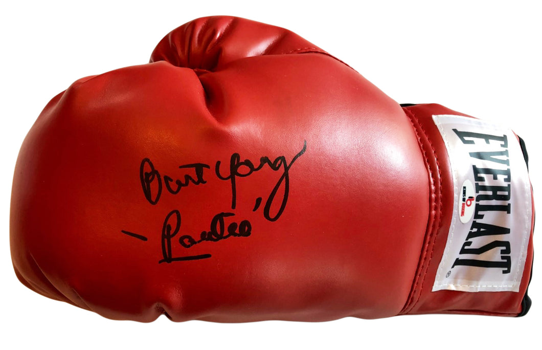 Burt Young Autographed Everlast Boxing Glove Inscribed