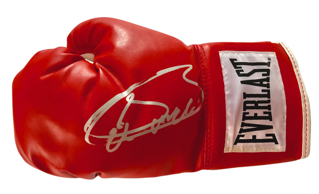 Saul Canelo Alvarez Signed Red Everlast Boxing Glove in Silver