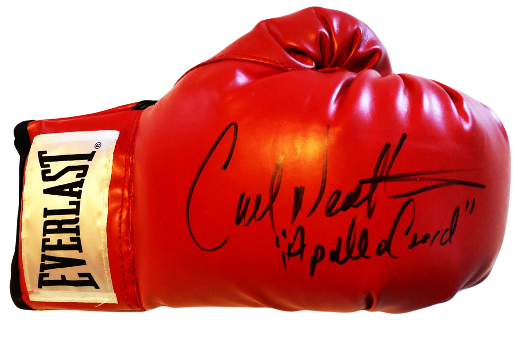 Carl Weathers Autographed Everlast Boxing Glove Inscribed