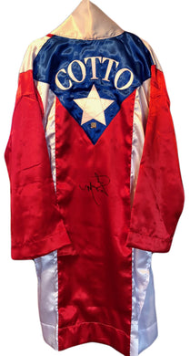 Miguel Cotto Signed Puerto Rico Custom Made Boxing Robe