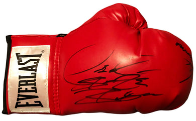 Deontay Wilder Dual Signed Artur Szpilka Red everlast Autographed boxing glove