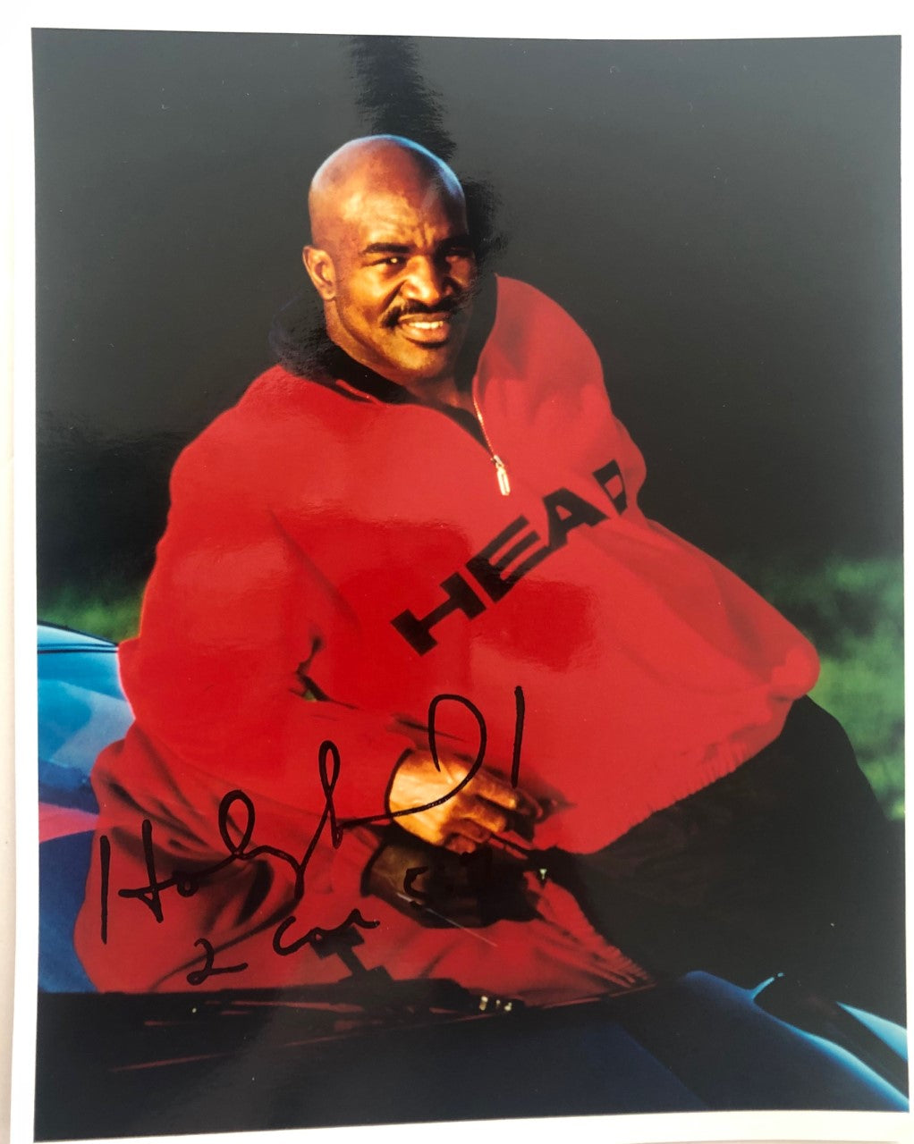 Boxing Evander Holyfield 8x10 Photo Signed Autographed Rare