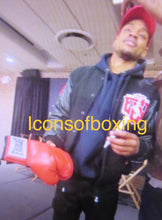 Errol Spence Jr. Silver Autographed Red Everlast Boxing Glove