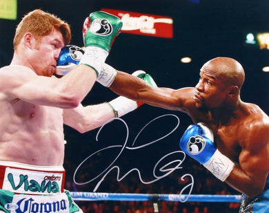 Floyd Mayweather Jr. vs Canelo Signed 16x20 Photo (Beckett COA)