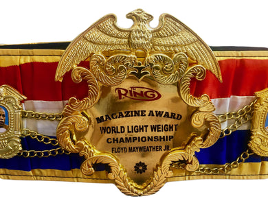 Floyd Mayweather Jr. Beautiful Ring Magazine Championship Boxing Belt