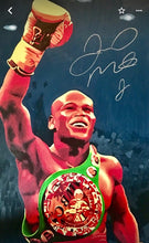 Floyd Mayweather Jr. Signed 24 x 36 Autographed Custom Hand Painted Canvas