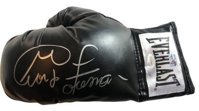George Foreman signed autographed Black everlast Boxing glove