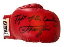 Smokin Joe Frazier Autographed red everlast boxing glove with Rare inscription