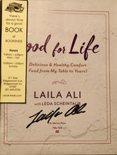 LaiLa Ali Autographed Rare Cook Book hand signed on the inside in person