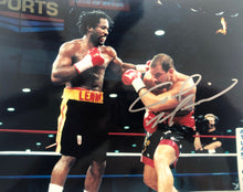 Lennox Lewis vs Tommy Morrison Signed Autographed 8x10 Boxing Photo